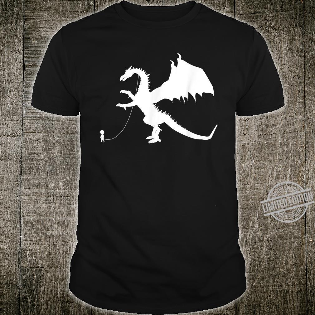 Boy Walking A Pet Dragon Fantasy Flying Dragon Shirt