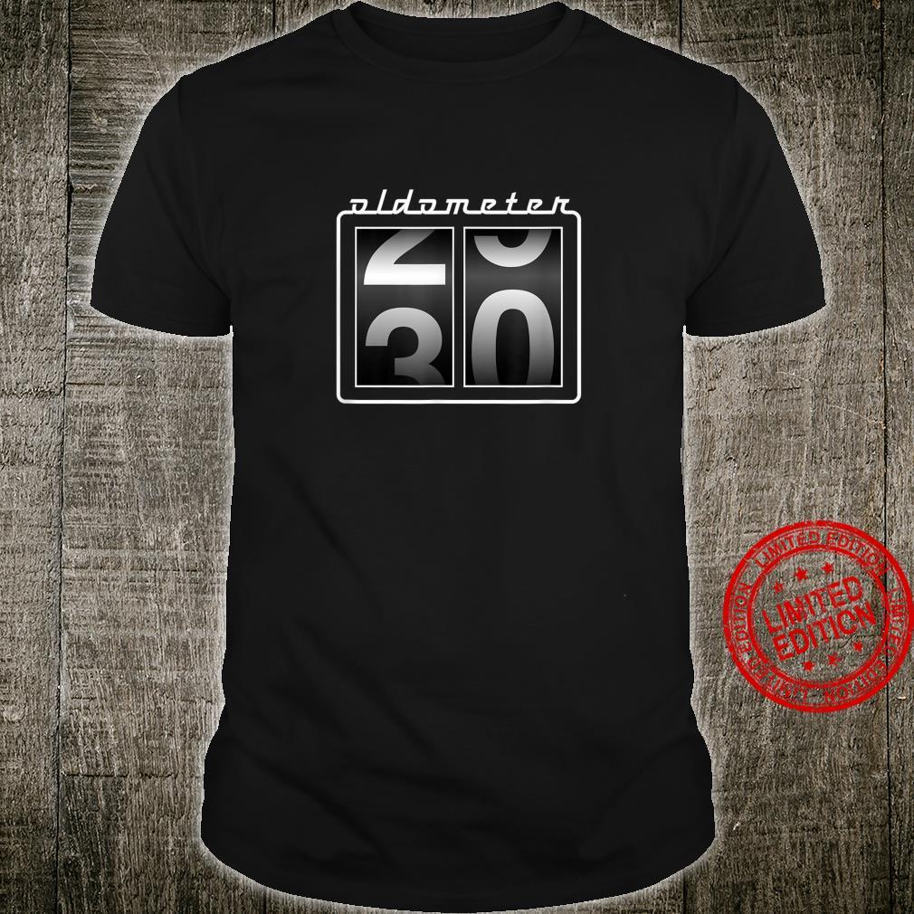 Funny 30th Birthday Oldometer 2930 Car Guys Shirt