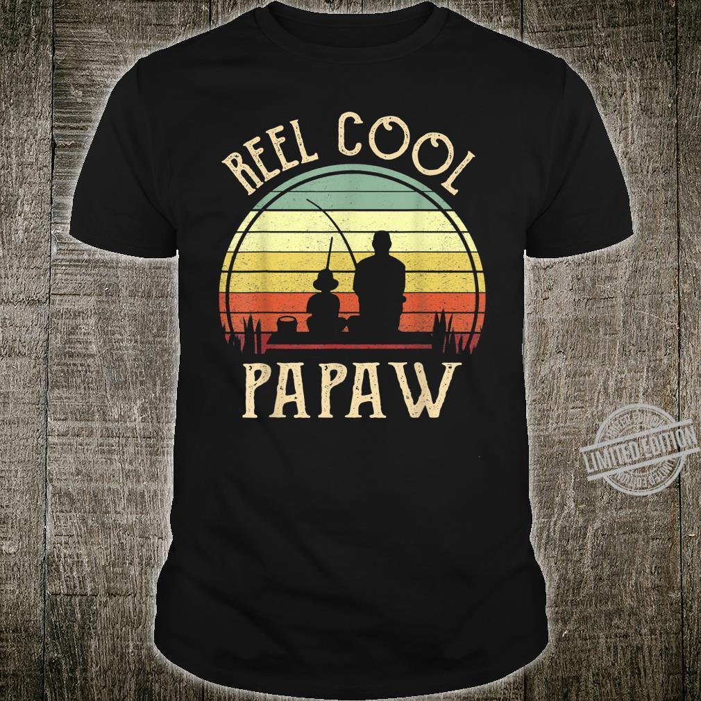 Mens Reel Cool Papaw Shirt Fishing Father's Day Shirt