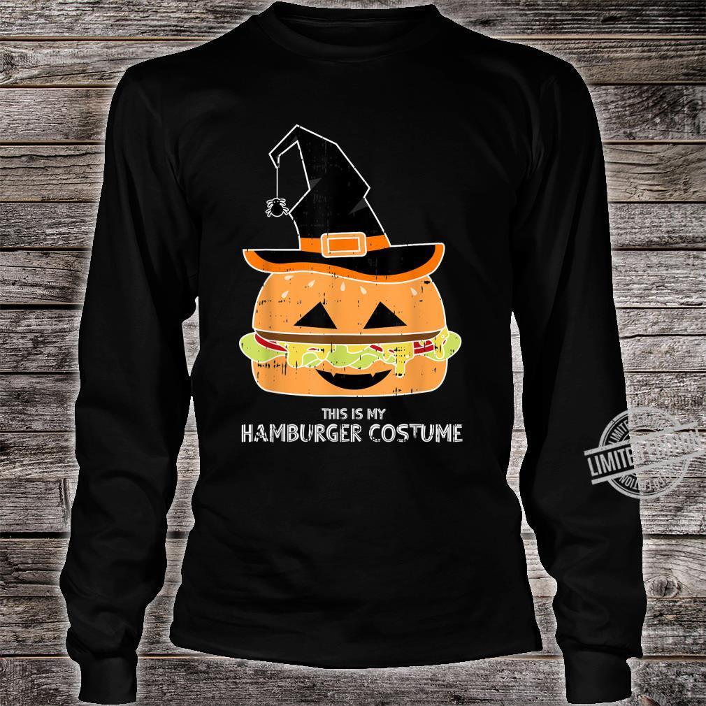 My Witch Hamburger Burger Costume Easy Food Halloween Shirt long sleeved
