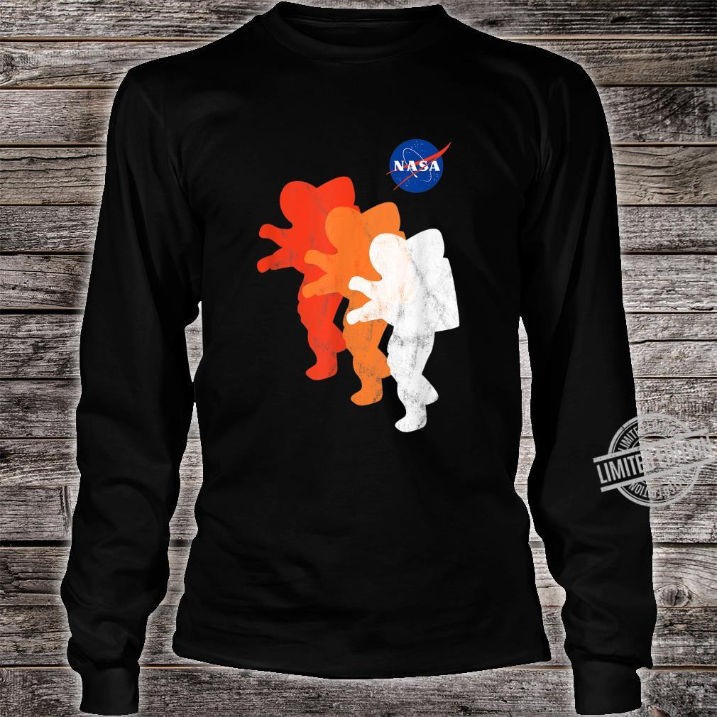 NASA Approved Officially Licensed Logo Astronauts Moon 2024 Shirt long sleeved