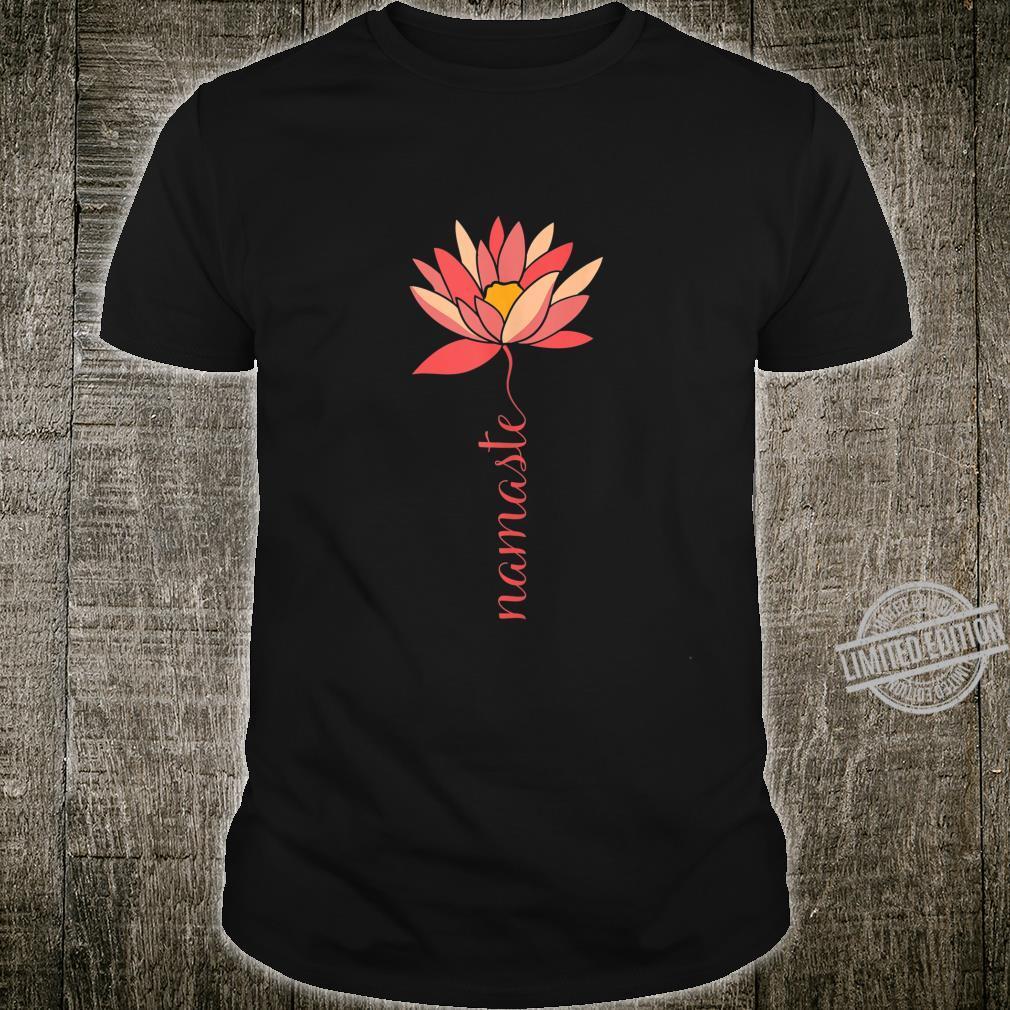 Namaste Lotus Meditation Workout Exercise Yoga Shirt