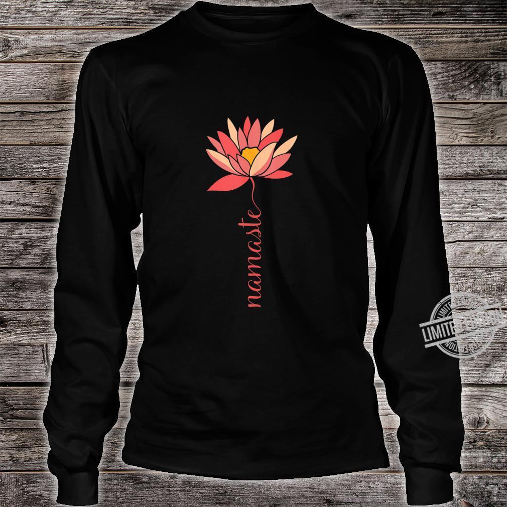 Namaste Lotus Meditation Workout Exercise Yoga Shirt long sleeved