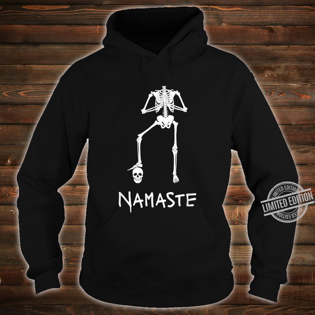 Namaste Lustiges Skelett macht Yoga Asana Kopflos Shirt hoodie