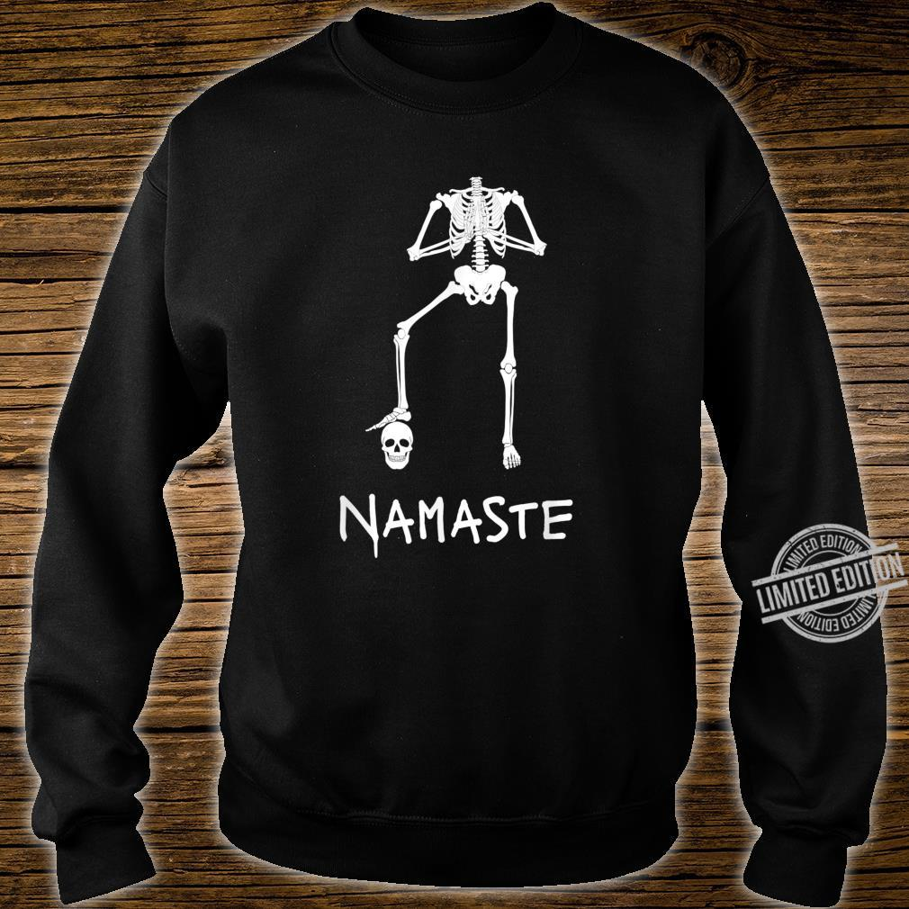 Namaste Lustiges Skelett macht Yoga Asana Kopflos Shirt sweater