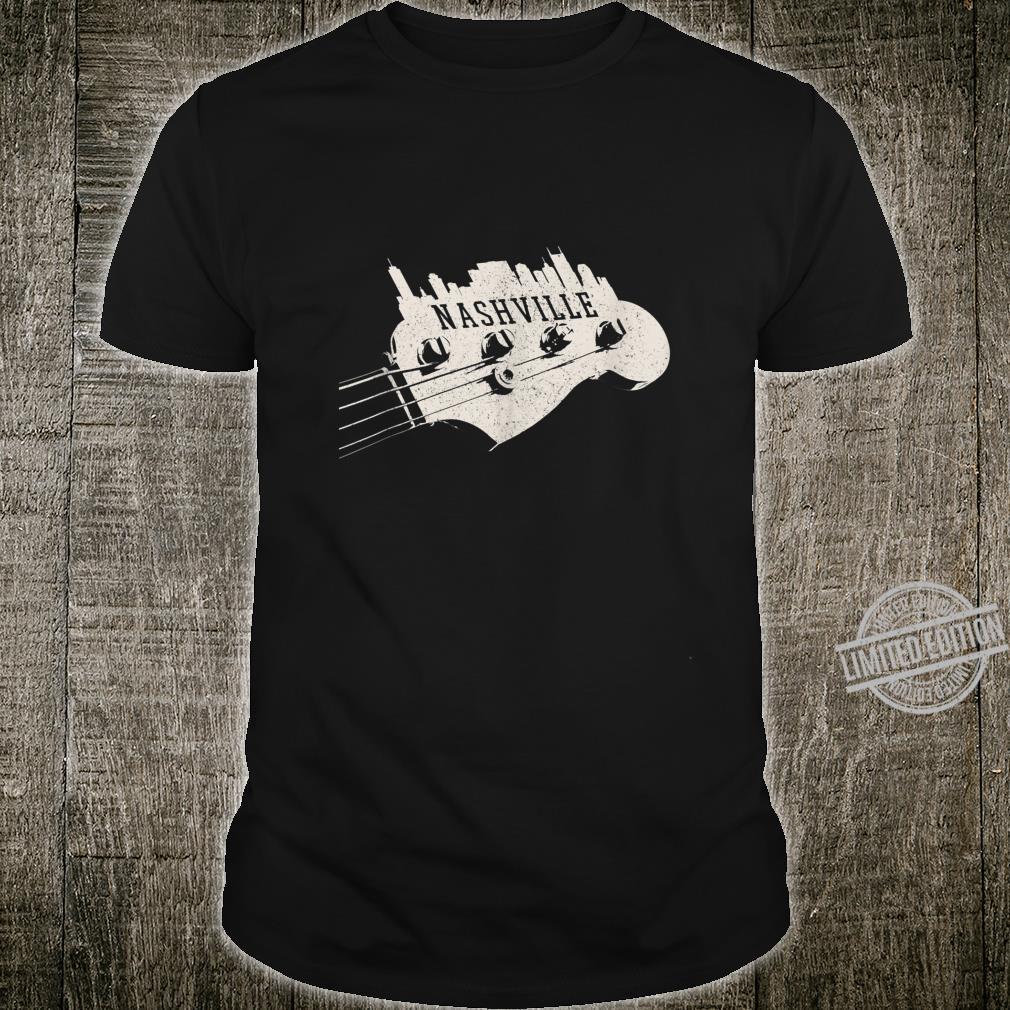 Nashville Skyline Bass Guitar Country Music City souvenir Shirt