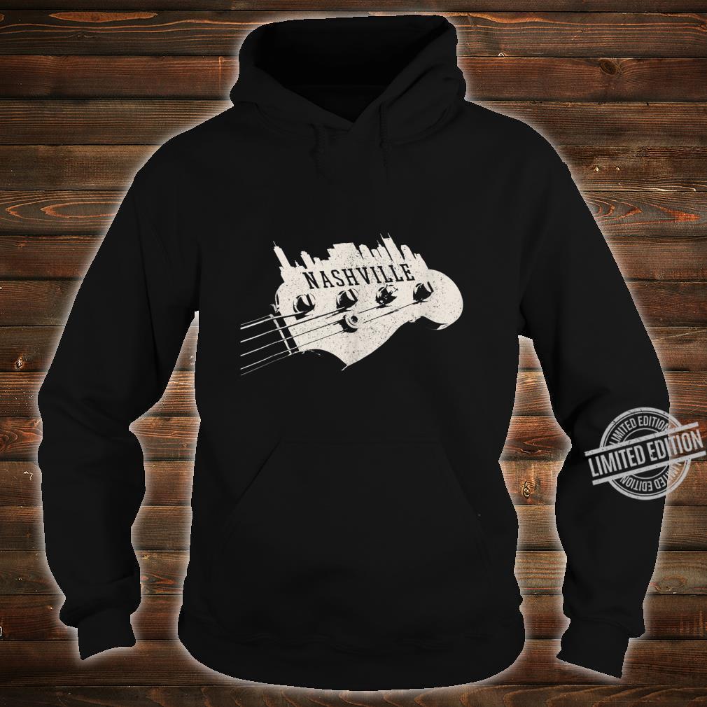 Nashville Skyline Bass Guitar Country Music City souvenir Shirt hoodie