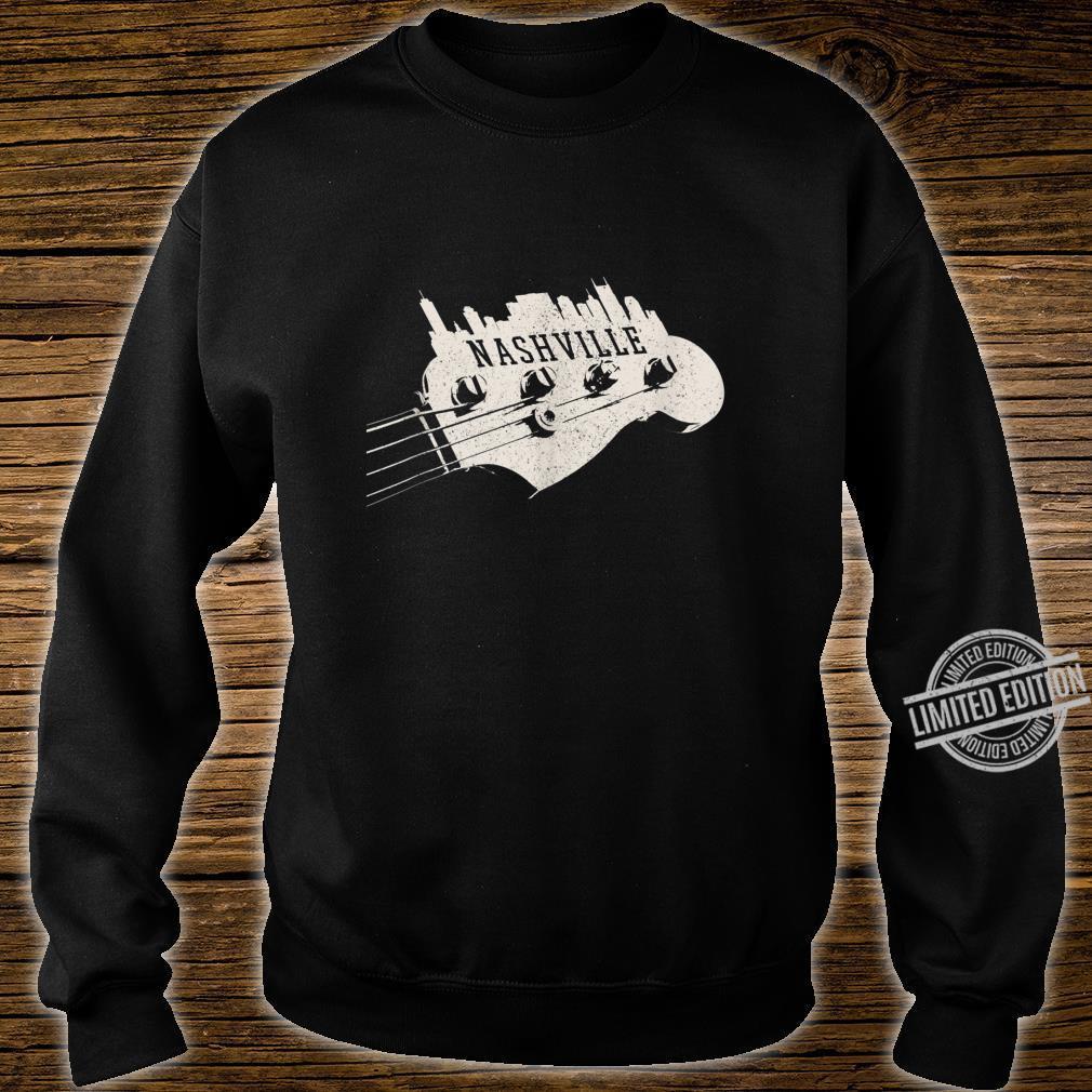 Nashville Skyline Bass Guitar Country Music City souvenir Shirt sweater
