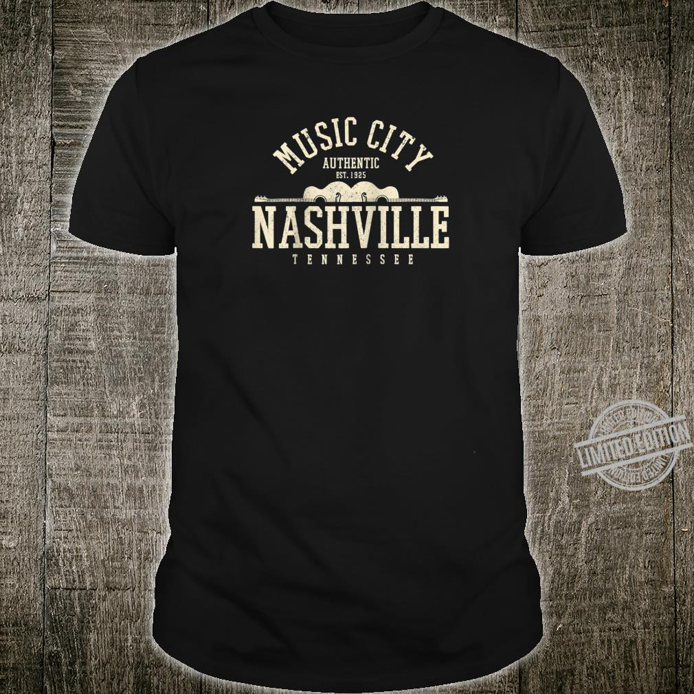 Nashville Tennessee Country Music City Guitar Vintage Shirt