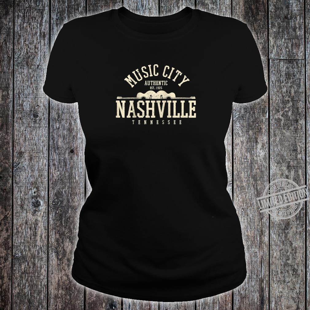 Nashville Tennessee Country Music City Guitar Vintage Shirt ladies tee