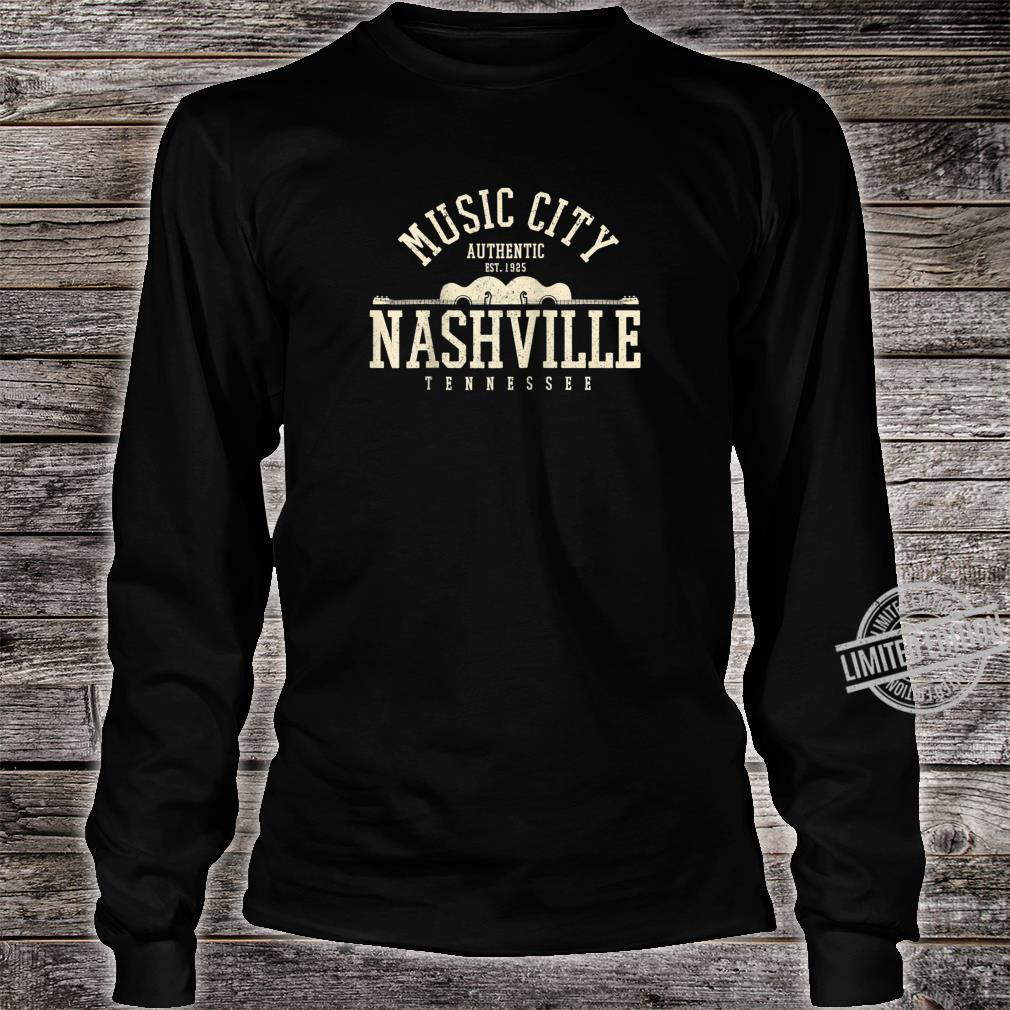 Nashville Tennessee Country Music City Guitar Vintage Shirt long sleeved