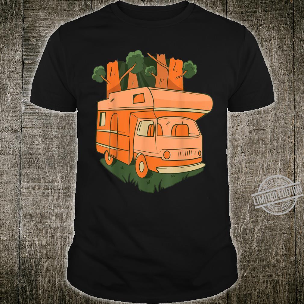 Nature caravan going through the woods, Summer camping car Shirt