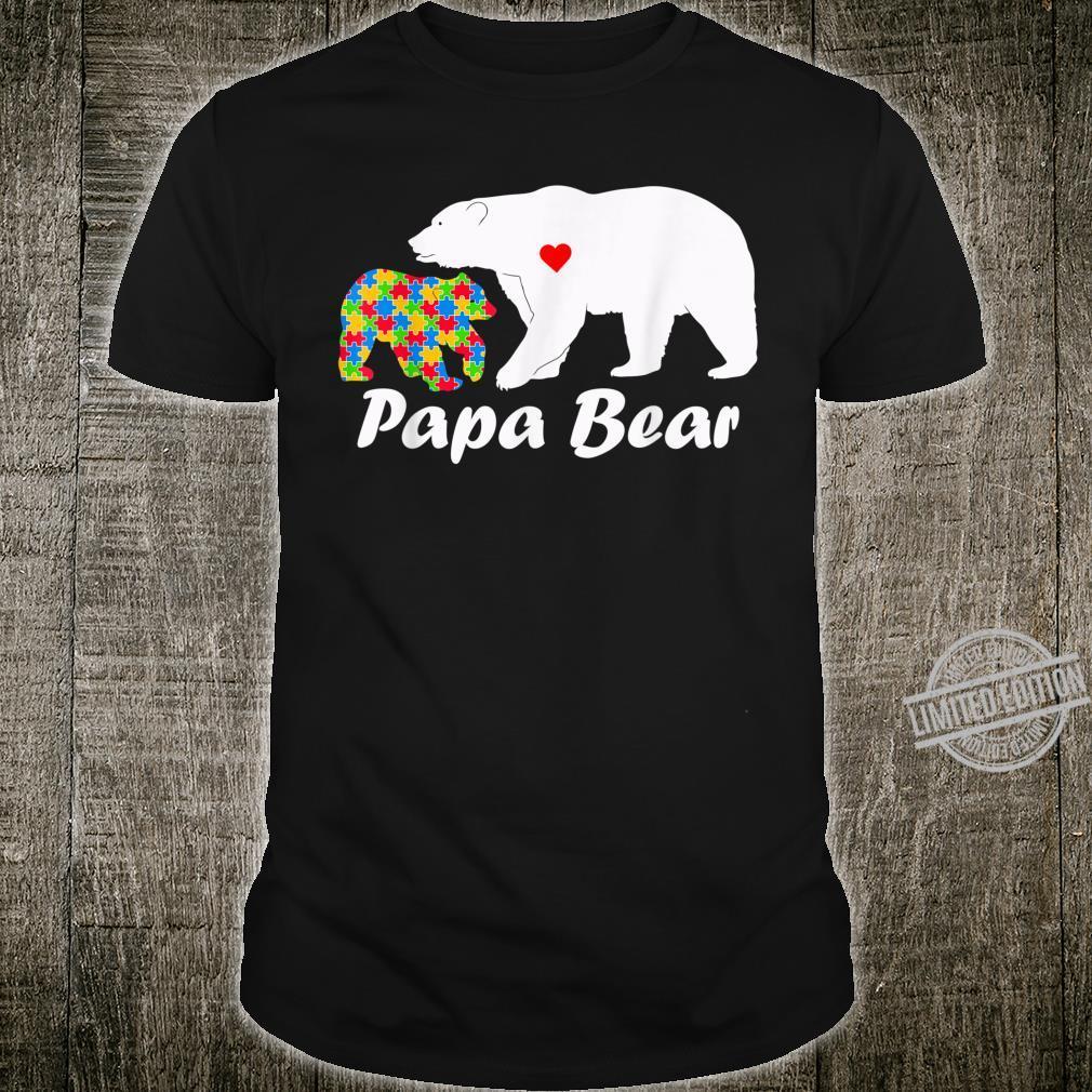 Papa Bear Autism Awareness Shirt Dad Love Support Shirt