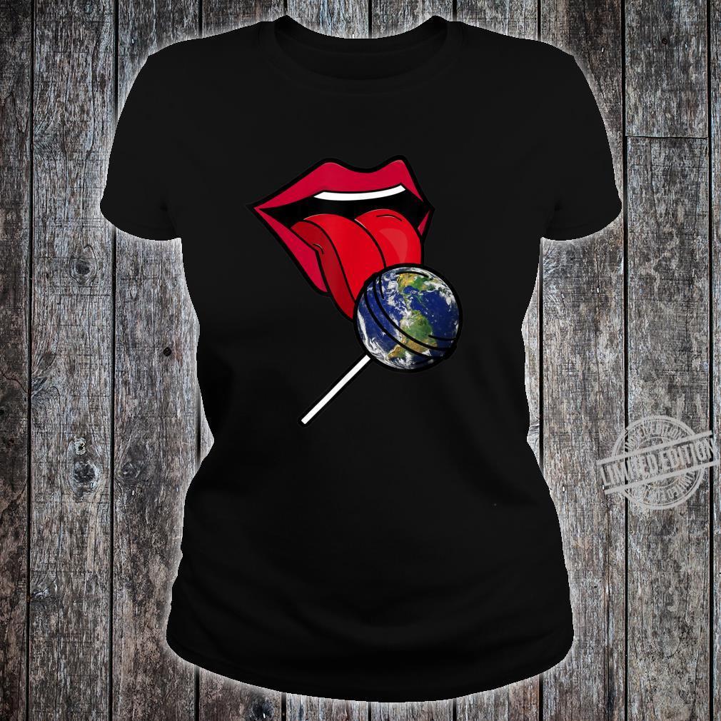 Planet Earth Lollipop Shirt ladies tee