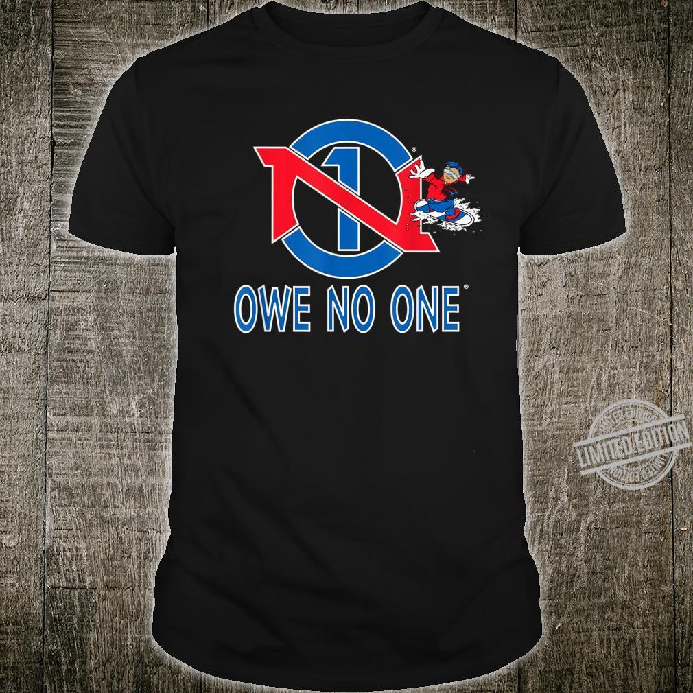 Red White Blue Snowboarding USA Owe No One Shirt