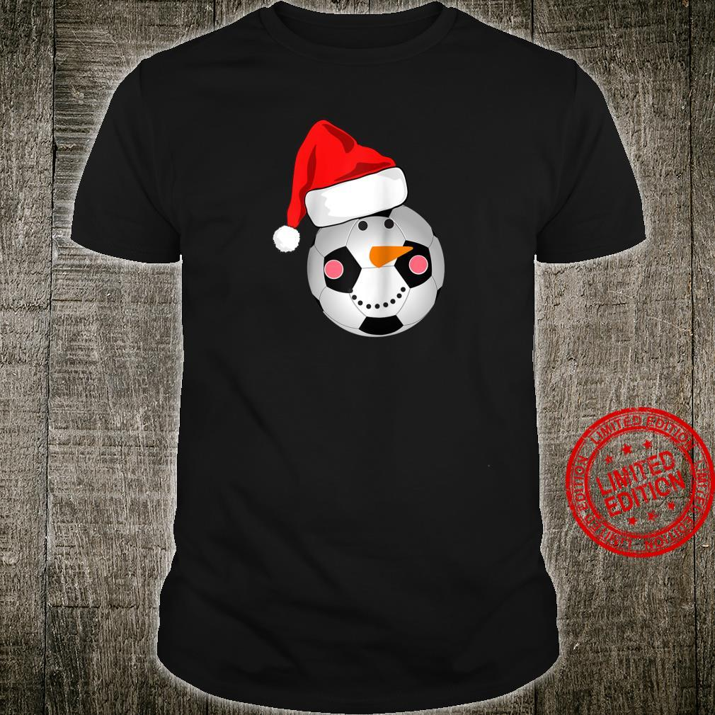 Soccer Snowman Santa Hat Scarf Matching Christmas Shirt